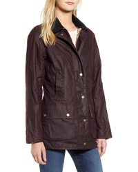 Barbour - Violet Lightweight Waxed Cotton Canvas Coat - Lyst