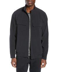 13c63e82f Zella Sweater Fleece Bomber Jacket in Black for Men - Lyst
