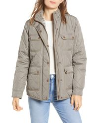 Thread & Supply - Fleece Lined Quilted Utility Jacket - Lyst