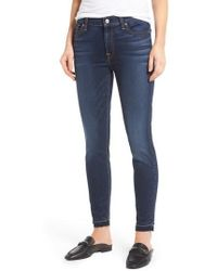7 For All Mankind - 7 For All Mankind B(air) Released Hem Ankle Skinny Jeans - Lyst