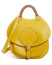 Maison Margiela - Large Bag Slide Leather Saddle Bag - - Lyst