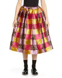 Comme des Garçons Comme Des Garçons Floating Jacquard Full Skirt - Pink