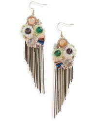 Mad Jewels - Goddess Fringe Earrings - Lyst