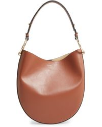 FRAME Le Switch Leather Hobo Bag - Brown