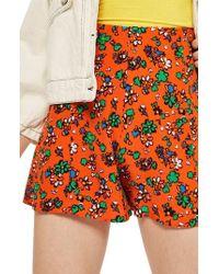 TOPSHOP - Ditzy Floral Shorts - Lyst