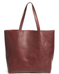 Madewell   Transport Leather Tote   Lyst