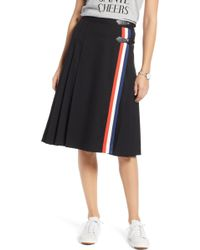 Nordstrom - 1901 Buckle Front A-line Skirt - Lyst