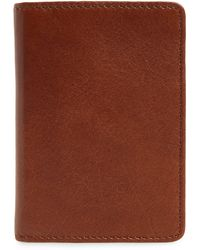Nordstrom Liam Leather Folding Card Case - Brown
