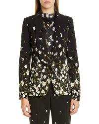 Erdem Daffodil Print Cady Tuxedo Blazer - Black