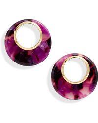 Kate Spade On The Dot Hoop Earrings - Pink