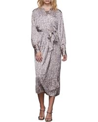 GOOD AMERICAN The Honey Leopard Robe - Multicolor
