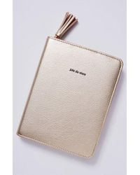 Anthropologie - Idiom Leather Journal - Metallic - Lyst