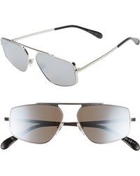 Givenchy 56mm Rectangle Sunglasses - Palladium - Multicolour