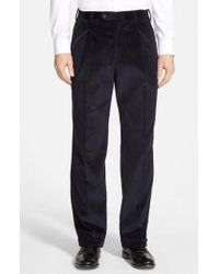 Berle - Pleated Corduroy Trousers - Lyst