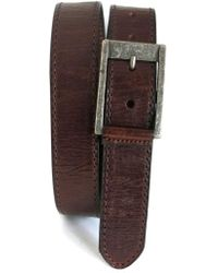 Boconi - Burnished Calfskin Leather Belt - Lyst