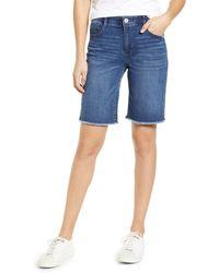 Wit & Wisdom Ab-solution Retro High Waist Denim Bermuda Shorts - Blue