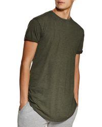 TOPMAN Scotty Longline Slim Fit T-shirt - Green
