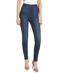J Brand - Natasha Sky High High Waist Skinny Jeans - Lyst