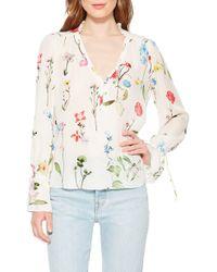 Parker Cassidy Floral Silk Blouse - Multicolor