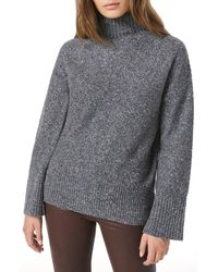 FRAME High/low Turtleneck Sweater - Gray