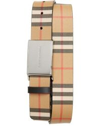 Burberry - Charles Check Belt - Lyst