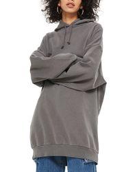 TOPSHOP - maternity Longline Hoodie - Lyst
