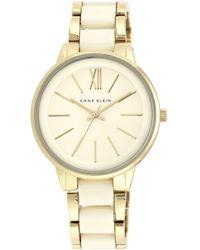Anne Klein - Round Bracelet Watch - Lyst