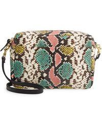 Clare V. Marisol Leather Crossbody Bag - Multicolor