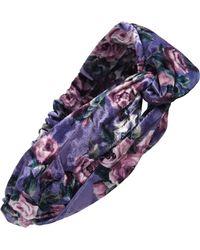 Tasha - Velvet Floral Twist Head Wrap - Lyst
