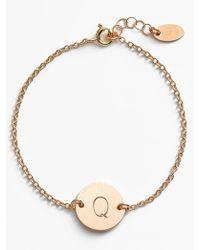 Nashelle - 14k-gold Fill Initial Disc Bracelet - Lyst