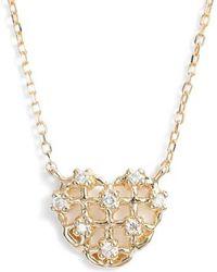 Dana Rebecca - Jacquie C Diamond Heart Pendant Necklace - Lyst
