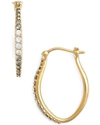 Judith Jack - Marcasite & Swarovski Crystal Hoop Earrings - Lyst