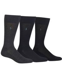 Polo Ralph Lauren - Assorted 3-pack Supersoft Socks - Lyst