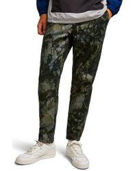 TOPMAN - Landscape Tapered Fit Cotton Pants - Lyst