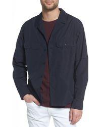 Vince Regular Fit Shirt Jacket - Natural