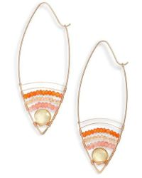 Nashelle | Cabana Golden Sand Oblong Hoop Earrings | Lyst