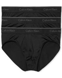 Calvin Klein - 3-pack Stretch Briefs, Black - Lyst