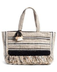Amuse Society - Carried Away Woven Weekend Tote - - Lyst