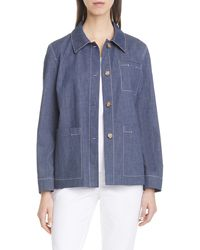 Lafayette 148 New York Wellesley Chore Jacket - Blue