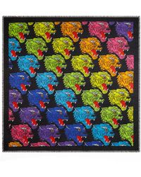 Gucci - Rainbow Panther Print Modal & Silk Shawl - Lyst