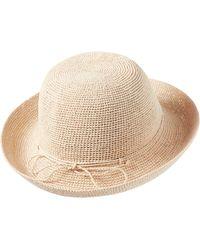Helen Kaminski Classic Upturn Crocheted Raffia Hat - Natural