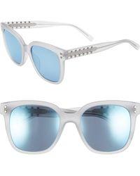 Rebecca Minkoff Cyndi 54mm Studded Sunglasses - Blue