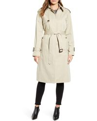 London Fog Heritage Water Repellent Trench Coat - Natural