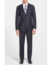 Hart Schaffner Marx - New York Classic Fit Solid Stretch Wool Suit - Lyst