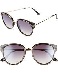 BP. 53mm Metal Overlay Gradient Cat Eye Sunglasses - Black