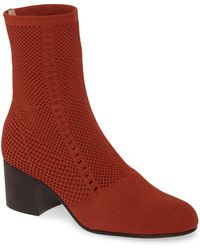 Eileen Fisher Choice Knit Boot - Red