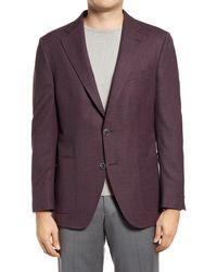 Peter Millar Hyperlight Regular Fit Stretch Wool Sport Coat - Red