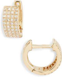 EF Collection - Jumbo Diamond Huggie Earrings - Lyst