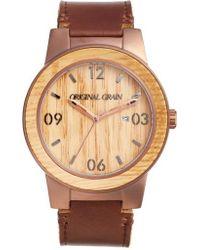 Original Grain - The Barrel Leather Strap Watch - Lyst