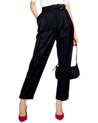 TOPSHOP - Pinstripe D-ring Trousers - Lyst